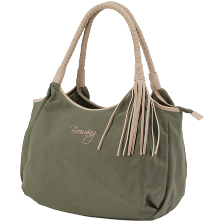Browning Dixie Concealed Carry Handbag Olive and Tan