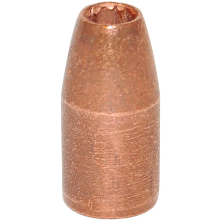 9mm Luger .355 Diameter 124 Grain Solid Copper Hollow Point (SCHP Projectile) 100 Count