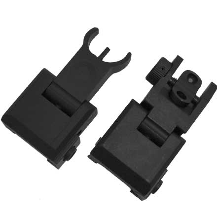 AR15 Premium Flip Up Sight Set  QF BUIS
