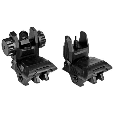 AR15 Polymer Pop Up Sight Set  QF BUS