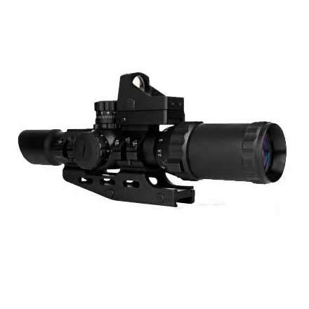 Assault Scope Combo 1-4x28mm w/P4 Sniper Reticle and Micro Red Dot