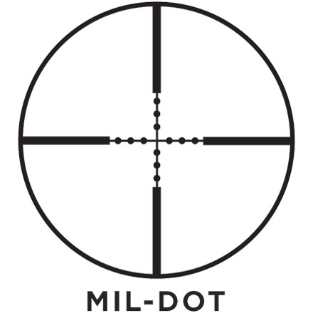 Commander 10-40x50mm Mil-Dot Reticle