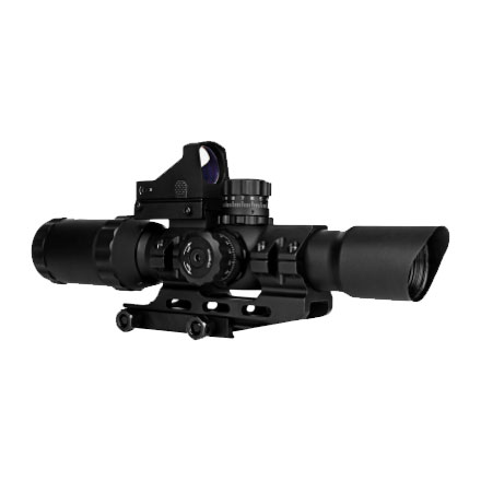 Image for Assault Scope Combo 1-4x28mm Micro Red Dot/ Mil-Dot Reticle