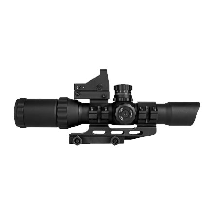 Assault Scope Combo 1-4x28mm Micro Red Dot/ Mil-Dot Reticle