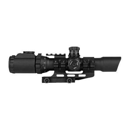 Assault V2 1-4x28mm Mil-Dot Reticle