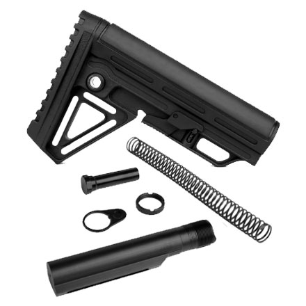 Alpha Stock Assembly Kit Combo Black for AR-15