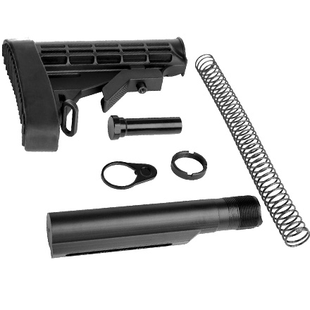 L-E Stock Assembly Kit Combo Black for AR-15