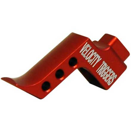 Straight Finger Stop Radius Red Trigger Shoe for MPC Trigger