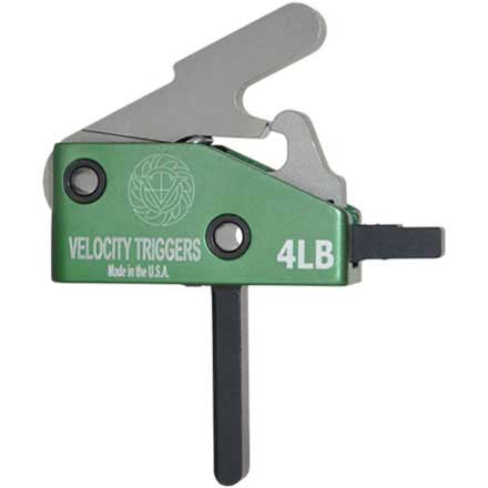 Velocity Triggers AR-15 Drop in Trigger Straight 4LB For Steel Cased Ammo