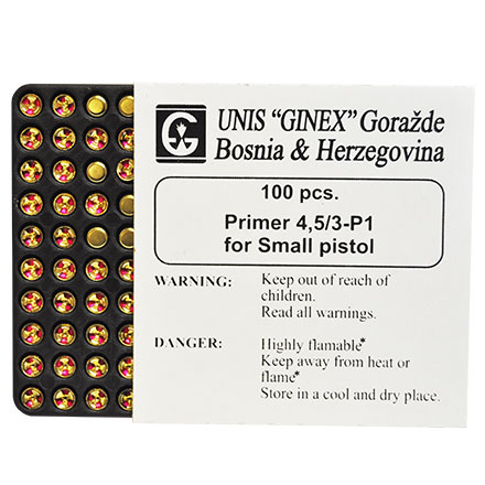Unis Ginex Small Pistol Primer 5,000 Count Case