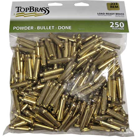 Top Brass .223 Remington Reconditioned Unprimed Rifle Brass 250 Count