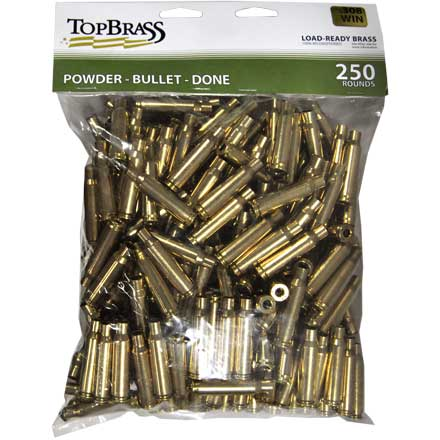 Top Brass 308 Winchester Reconditioned Unprimed Rifle Brass 250 Count