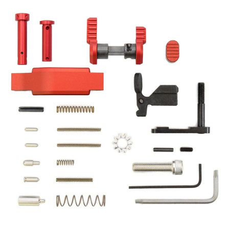 AR15 .223/5.56 Superlight Lower Parts Kit Red