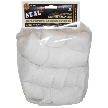 "Seal 1 2-1/4"" .38 .45 9mm 28 & 410 Gauge Cotton Cleaning Patches (1000 Per Bag)"