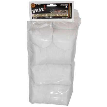 "Image for Seal 1 3"" 12-16 Gauge Cotton Cleaning Patches (1000 Per Bag)"
