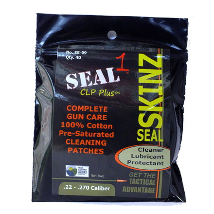 Seal Skinz Pre-Saturated Cleaning Patch 22-270 Caliber 40 Count