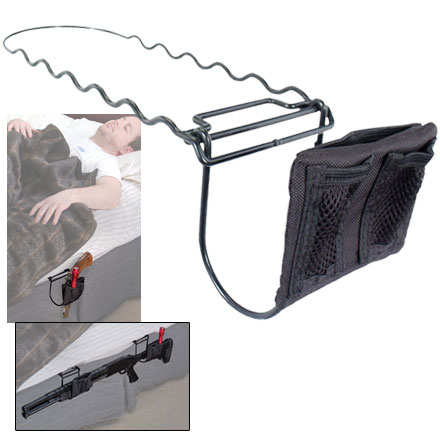 Night Guardian Bedside Handgun  Holster with Accessory Pouches