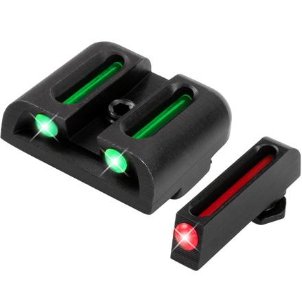 Truglo Fiber Optic Pistol Sight Set Glock Low