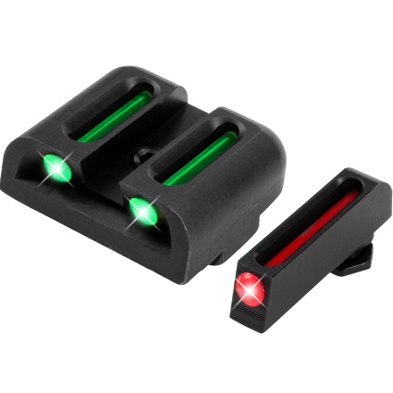 Truglo Fiber Optic Pistol Sight Set Glock High