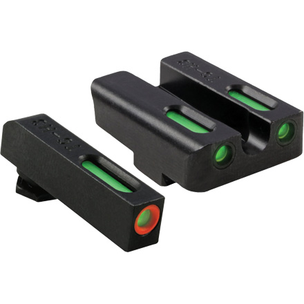 TFX Pro Tritium Fiber-Optic Day Night Pistol Sights Glock Low