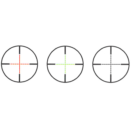 TruGlo 30mm TruBright 1-6 x 24mm Illuminated Duplex Mildot Reticle With Offset Monolithic Mount