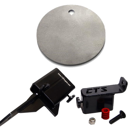 CTS Targets AR500 Target Kit With 8 inch Plate, Hanger, And Spike Base