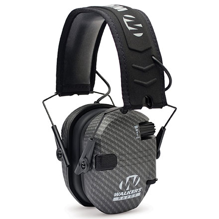 Walker's Razor Slim Low Profile Electronic Earmuffs Carbon