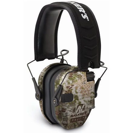 Walker's Razor Slim Low Profile Electronic Earmuffs Kryptek Camo
