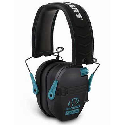 Walker's Game Ear Razor Electronic Slim Folding Earmuffs Teal