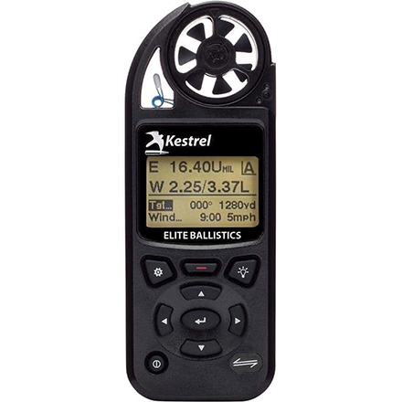 Kestrel 5700 Elite Weather Meter with Applied Ballistics Black