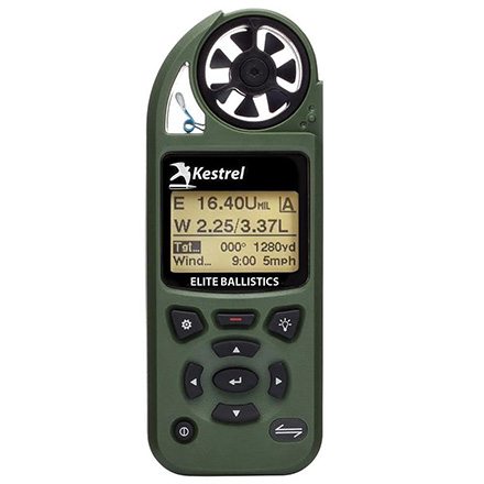 Kestrel 5700 Elite Weather Meter with Applied Ballistics Olive Drab