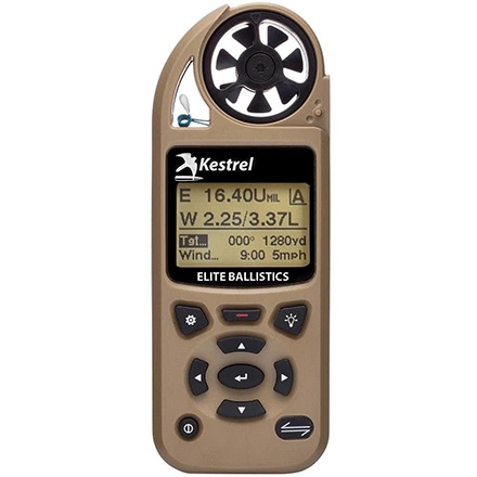 Kestrel 5700 Elite Weather Meter with Applied Ballistics Desert Tan