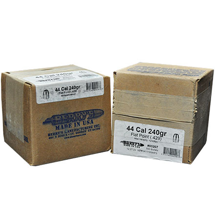 44 Caliber .429 Diameter 240 Grain Flat Nose Plated 1000 Count