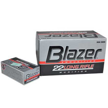 22 LR (Long Rifle) 40 Grain High Speed Blazer 500 Round Brick