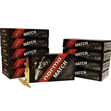 6.5 Creedmoor 130 Grain Hollow Point Boat Tail Match 200 Rounds Pack (10 Boxes of 20)