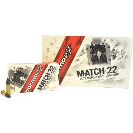 Match 22 LR (Long Rifle) 40 Grain Lead Round Nose 500 Round Brick