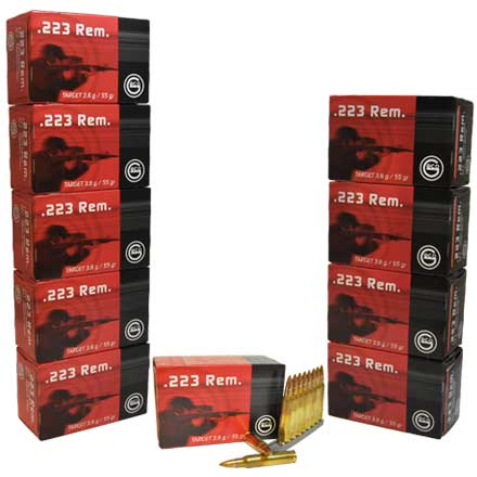 GECO .223 Remington 55 Grain Full Metal Jacket 500 Round Half Case