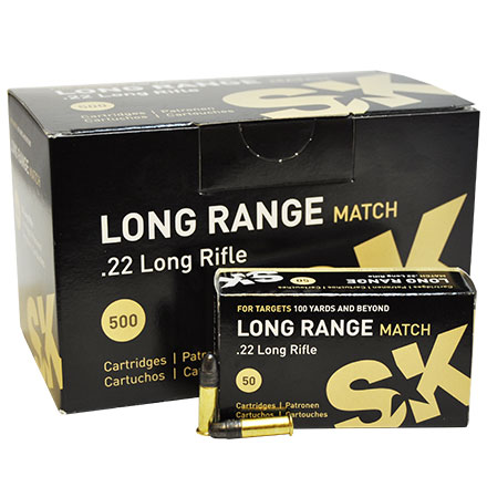22 Long Rifle (22LR) Long Range Match 500 Rounds