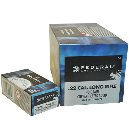 22 LR (Long Rifle) 40 Grain Hi-Velocity Classic 500 Round Brick