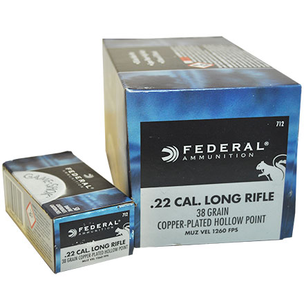 22 LR (Long Rifle) 38 Grain HP Game Shok Hi-Velocity 500 Round Brick
