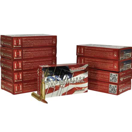 6.5 Creedmoor 129 Grain Interlock American Whitetail 200 Rounds Pack (10 Boxes of 20)