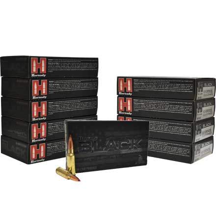 6.5 Grendel 123 Grain ELD Match Black 200 Rounds Pack (10 Boxes of 20)