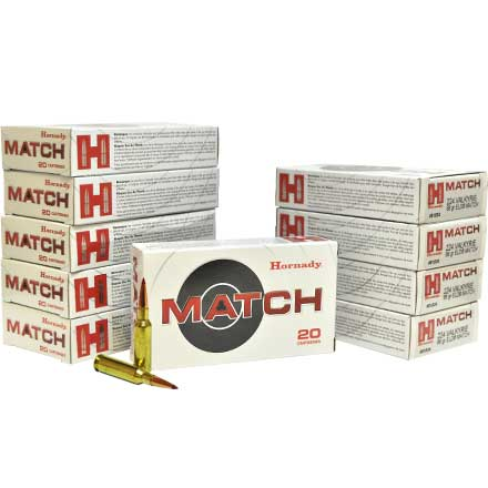 224 Valkyrie 88 Grain ELD Match 200 Rounds Pack (10 Boxes of 20)
