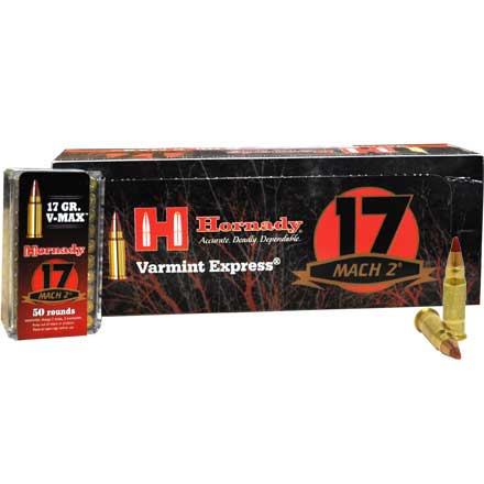 17 MACH 2 (17 HM2) 17 Grain V-Max 500 Round Brick (10 Boxes of 50)
