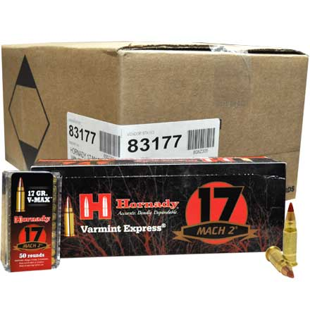 17 MACH 2 (17 HM2) 17 Grain V-Max 5000 Rounds/Case