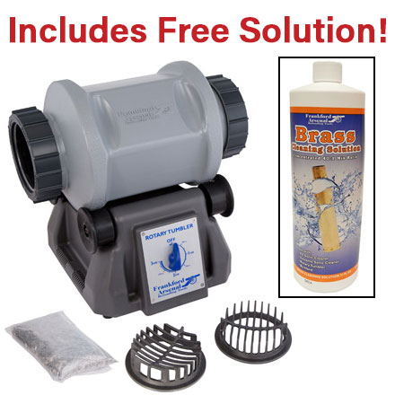 Frankford Arsenal Platinum Series Rotary Tumbler with FREE Brass Cleaning Solution