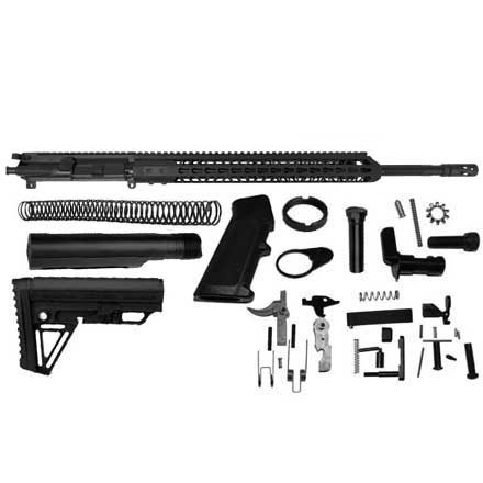 "6.5 Grendel AR-15 Rifle Kit 20"" Barrel with 15"" Keymod Upper, LPK, and Alpha Stock Assembly Kit"