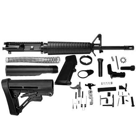 AR-15 Rifle Kit 16 inch Del-ton Mid-Length Complete Upper with LPK and  Stock Assembly