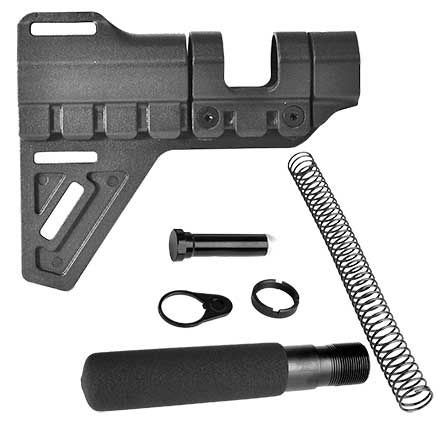 AR15 Pistol Buffer Tube Assembly Kit with Breach Pistol Brace