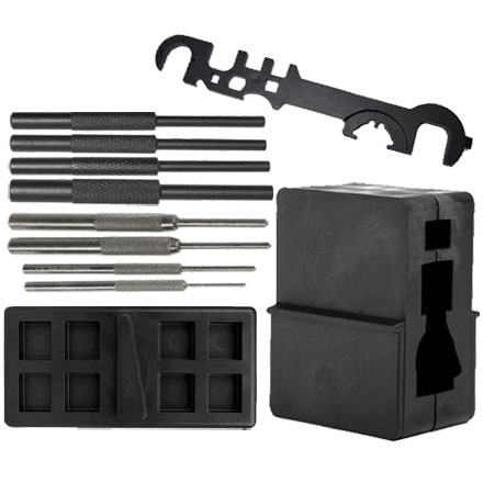 AR 15 Ultimate Gunsmith Builder Set (Upper and Lower Vise Block, AR-15 Wrench and 8 Piece Pin Set)